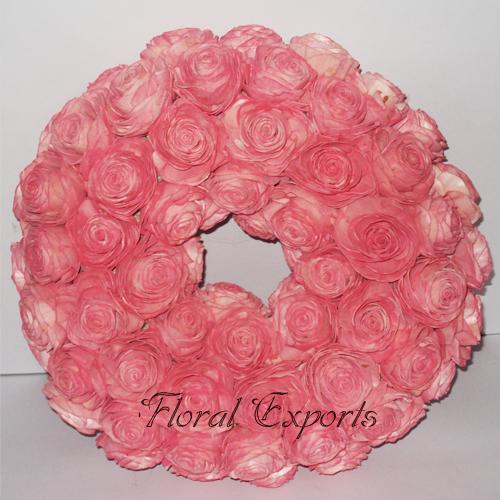 Sola Beauti Rose Wreath Colour - Flowers Wreath Wholesale