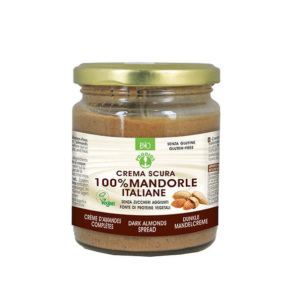 Crema (unt) migdale nedecojite (fara gluten) Probios BIO - 200 g