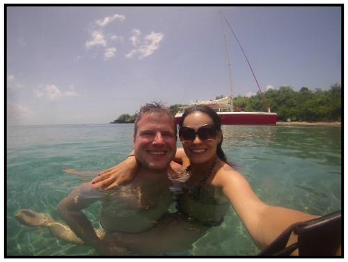 Snorkelling at St. Lucia