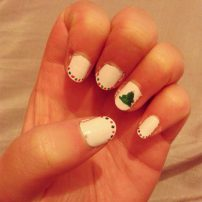 Simple dots and christmas tree