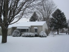 Our house in the snow!