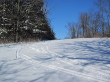 Ski trails that turned out to actually be my friends'!