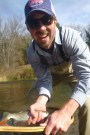 Dave with some of his driftless trout.