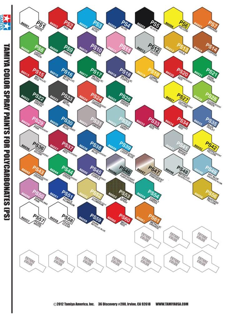 Tamiya Paint Color Chart Pdf Todayss