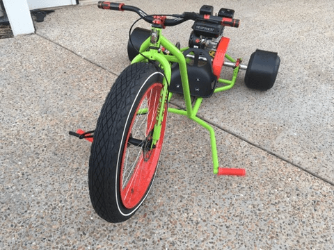 Motorised Drift Trike Green and red
