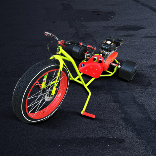 Motorised Drift Trike yellow-red