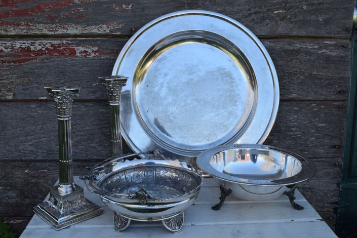 Assorted vintage silver pieces