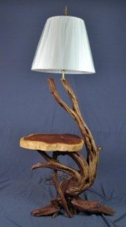 Lacquered Floor/Table Lamp Combination