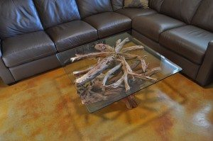 Sandblasted coffee table