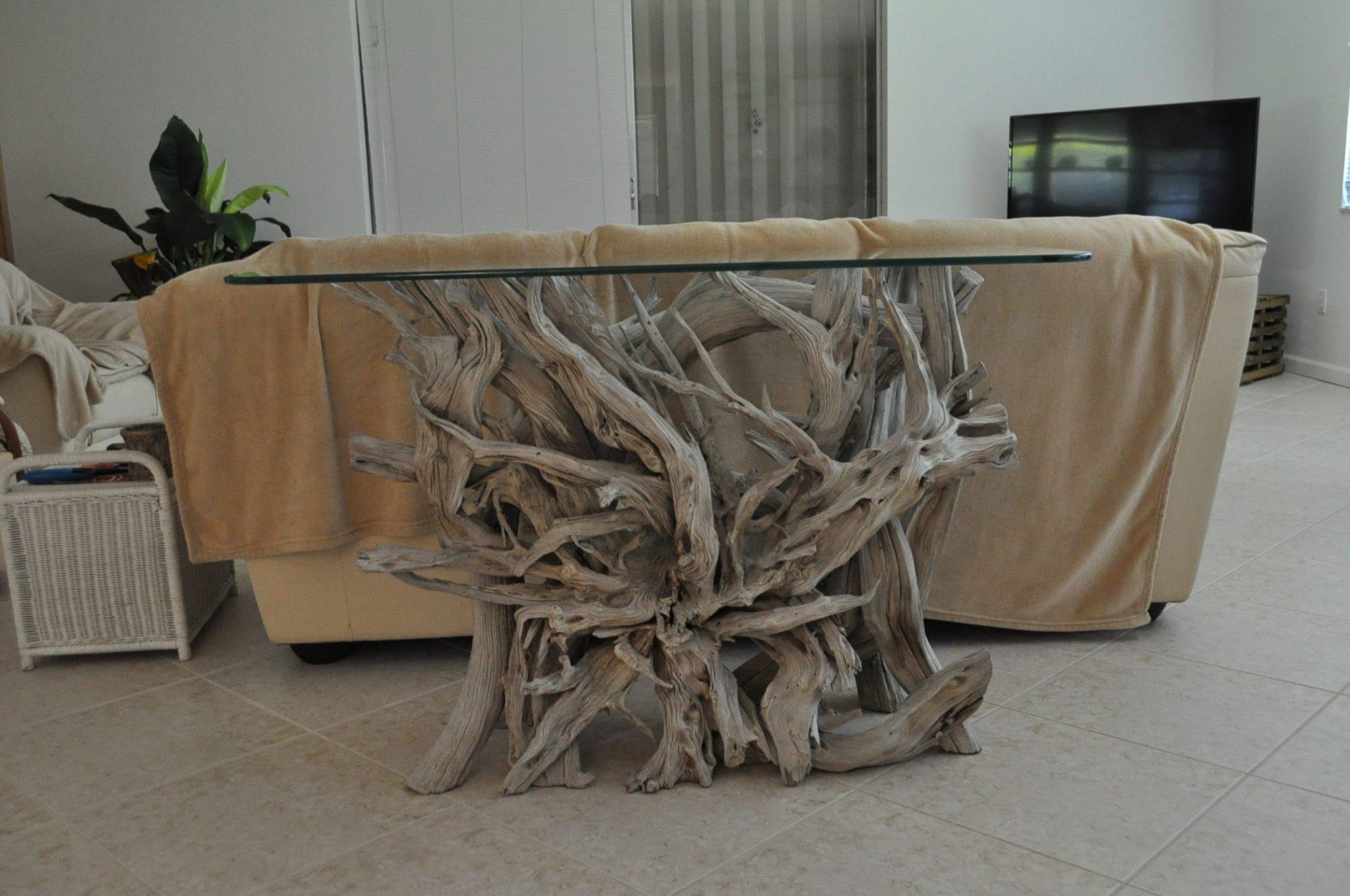 driftwood foyer table driftwood furniture