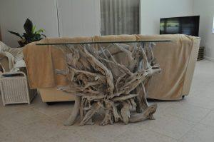 driftwood foyer table. driftwood furniture