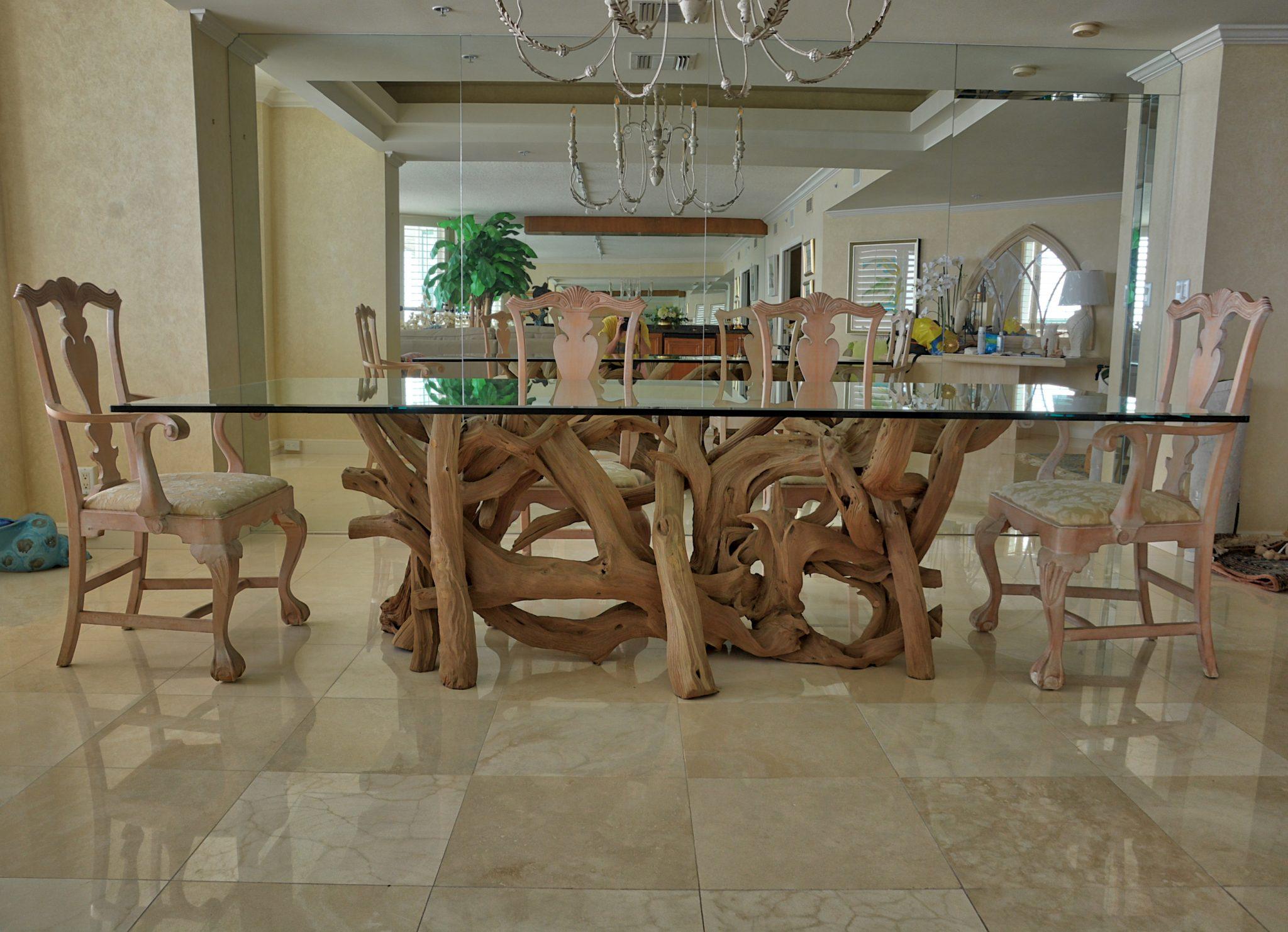 Driftwood Decor Custom Driftwood Furniture - Driftwood dining table set