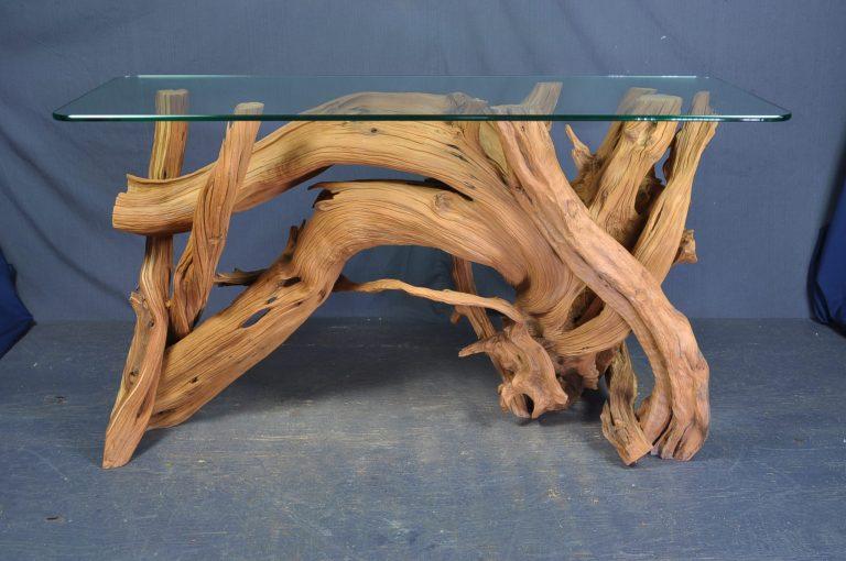 sandblasted-driftwood-glass-table