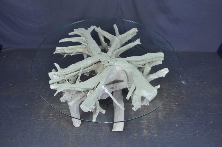 driftwood -coffee-table-round-glass