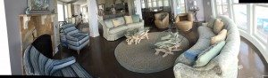 driftwood & glass coffee tables