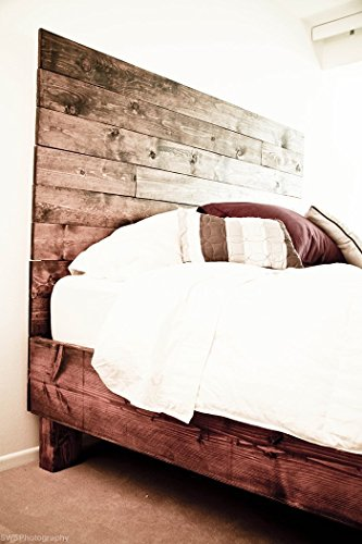 Farmhouse Bed Frame And Headboard Set Reclaimed Style