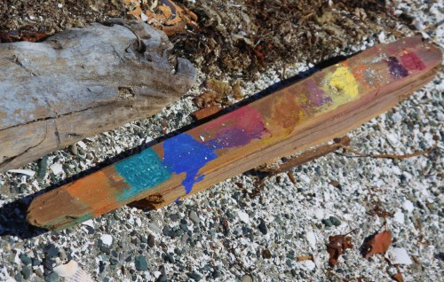 Painted stick, a dire warning of children!