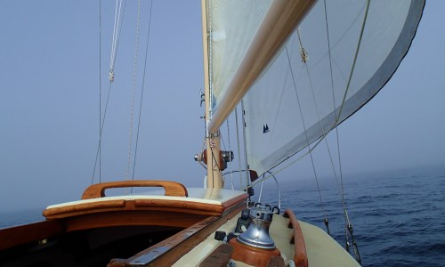 Into The Mystic Sea trials on 'Avanti' in the fog