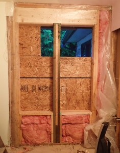 From this. Showing old window opening and new windows framed in.