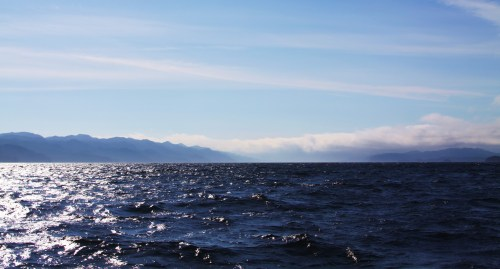 Goletas Channel, northbound from Port Hardy. Did the Spanish explorers, who named these waters, wonder if this might be the beginning of the fabled Northwest Passage?