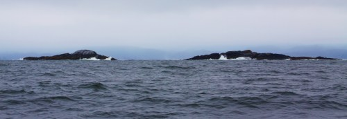 Growlers in the Rock Garden. Queen Charlotte Strait is not a place to be sleepy in the dark and/or in heavy weather.