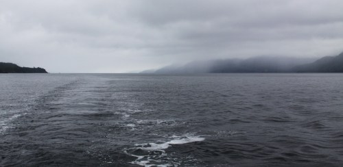 Along way home...and we're just getting started. Looking south down Johnstone Strait.