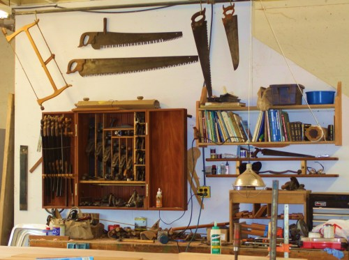 All in order. Tools kept5 like this indicate a professional shipwright.