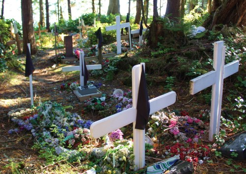 The graves go on and on.