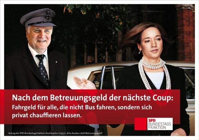 Seehofer Schröder Betreuungsgeld