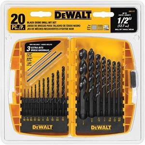 DEWALT Black Oxide Drill Bit Set, 20-Piece