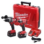 Milwaukee 2797-22 M18 Fuel Lithium 2-Tool Combo Kit includes Hammer Drill