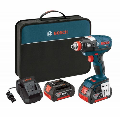 Bosch IDH182-01 18V Brushless Socket Ready Impact Driver with 2 Batteries