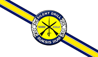 Malaysian Police Silent Drill Team Flag