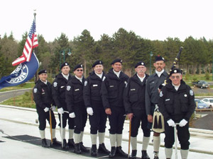 Mountain Rescue honor-guard