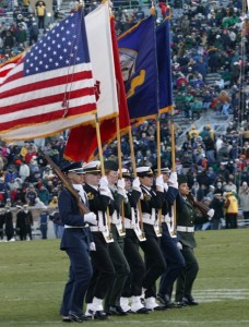 Notre Dame Trimilitary Cadet Color Team, color guard