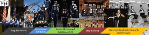 exhibition drill, regulation drill, military, drill team, jrotc