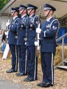 Base Honor Guard After Posting the Colors at Rhein Mein in 2010