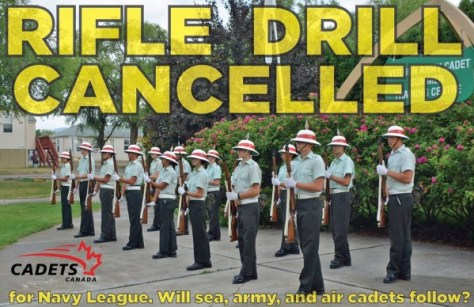 Canadian Cadet Rifle Drill Ban