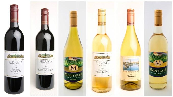 The six award winning Missouri wines.