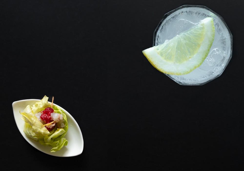 Gin fizz - Scampo marinato