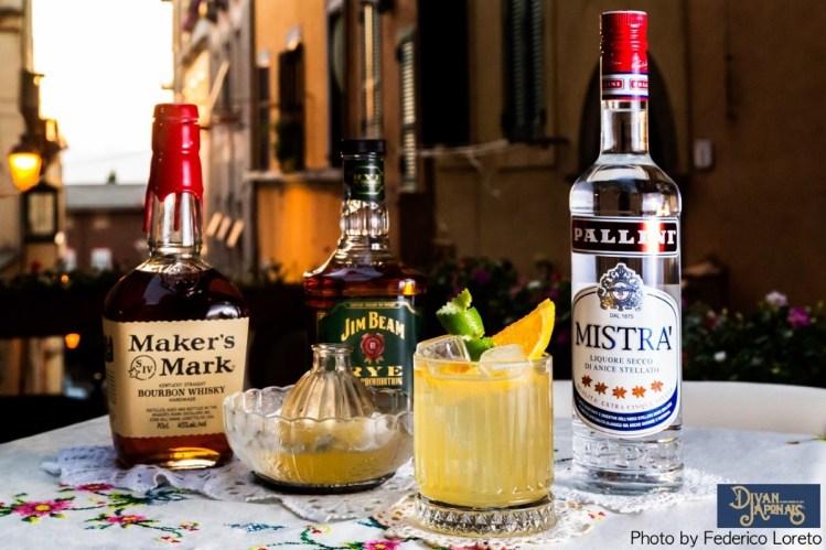 drink THE WHISKY BLONDE di Max La Rosa proprietario e barman del Divan Japonais di Frascati Roma