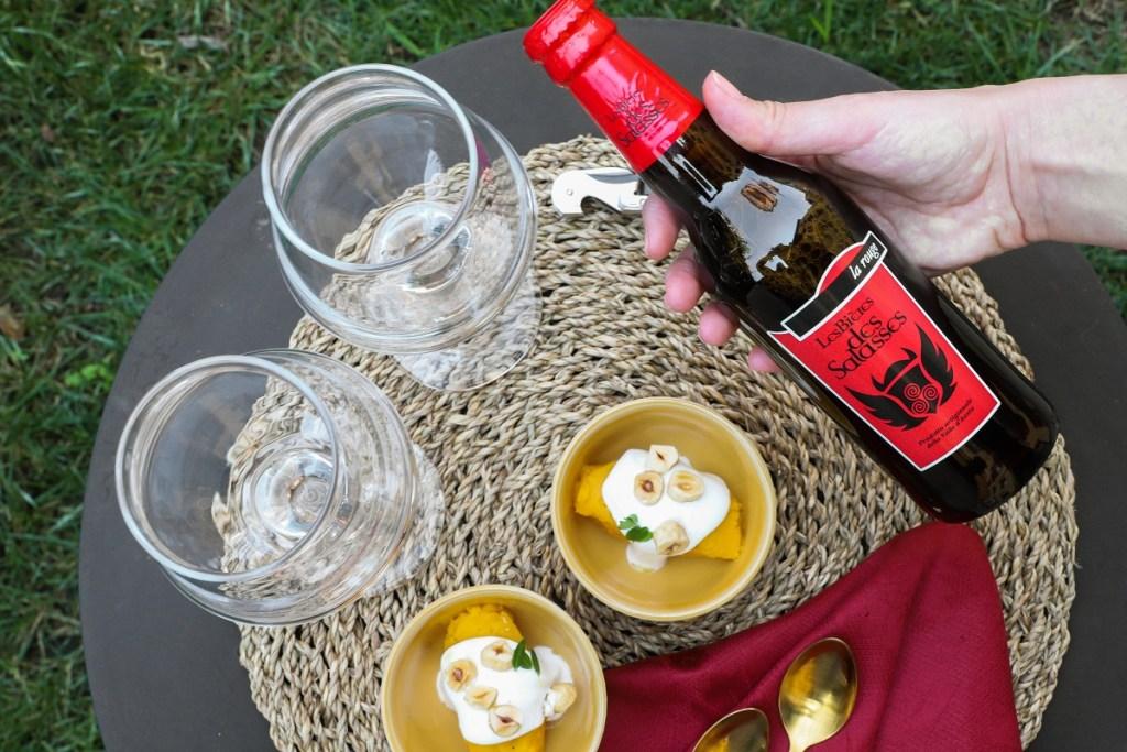 birra La Rouge - Zucca e mousse di capra
