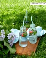 Photo shoot in the park - bottles