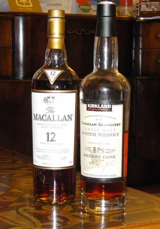 Kirkland Macallan Sherry Cask Finish 18 Years Old