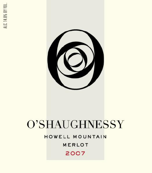 2007 O'Shaughnessy Merlot Howell Mountain