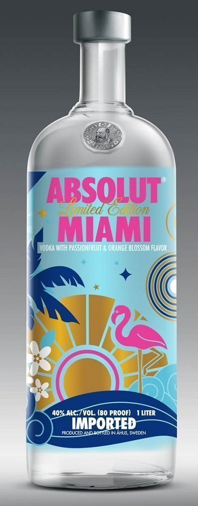 Absolut Miami Limited Edition Vodka