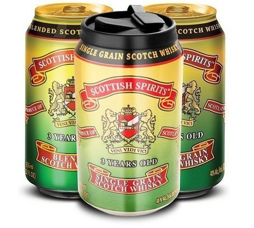 "Scottish Spirits Single Grain ""Scotch in a Can"""