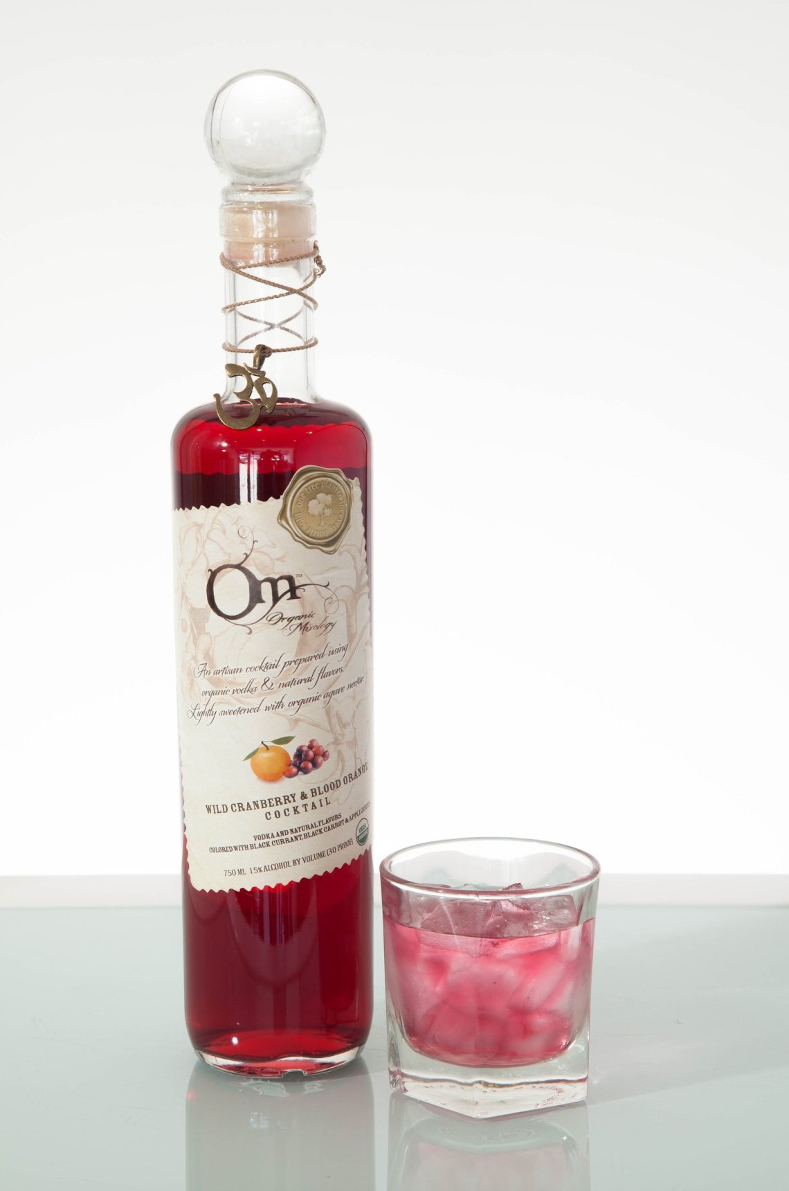 OM Organic Mixology Wild Cranberry & Blood Orange Cocktail