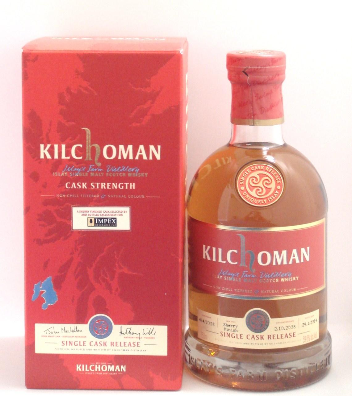 Kilchoman ImpEx Exclusive 2014 Single Cask Release