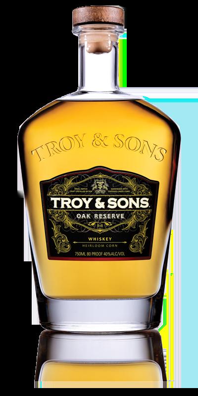 Troy & Sons Oak Reserve Whiskey Heirloom Moonshine